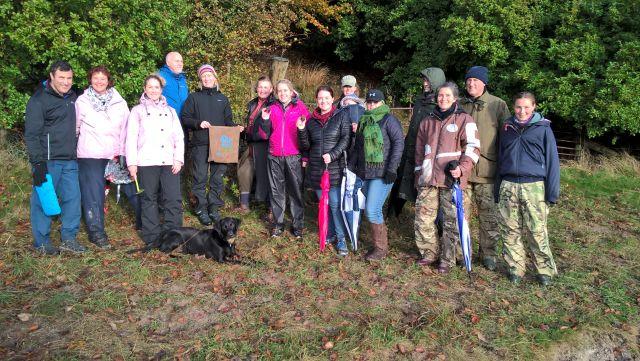 A bit wet but happy Wiltshire truffle hunters