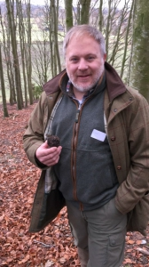 Chris is delighted with his truffle find.