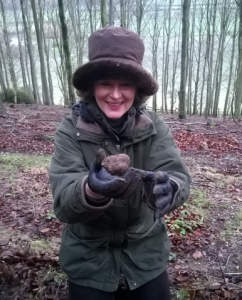 Very happy with her truffle find - a big tick from the bucket list