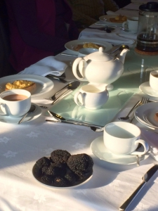 Afternoon tea with truffles as the centrepiece