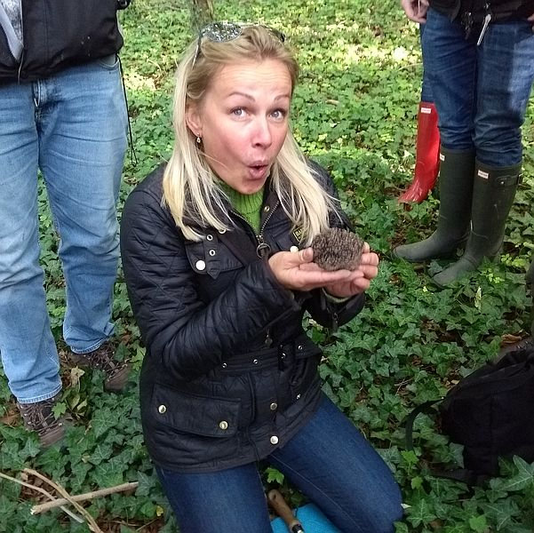 big truffle and happy truffle hunter