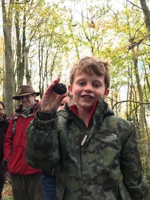 Young truffle hunter