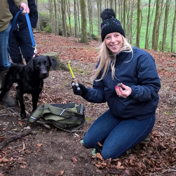 Happy guest on one of our truffle hunts