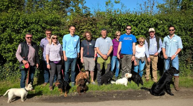Truffle Dog Training Workshop: Group photo (Chichester May 2018)
