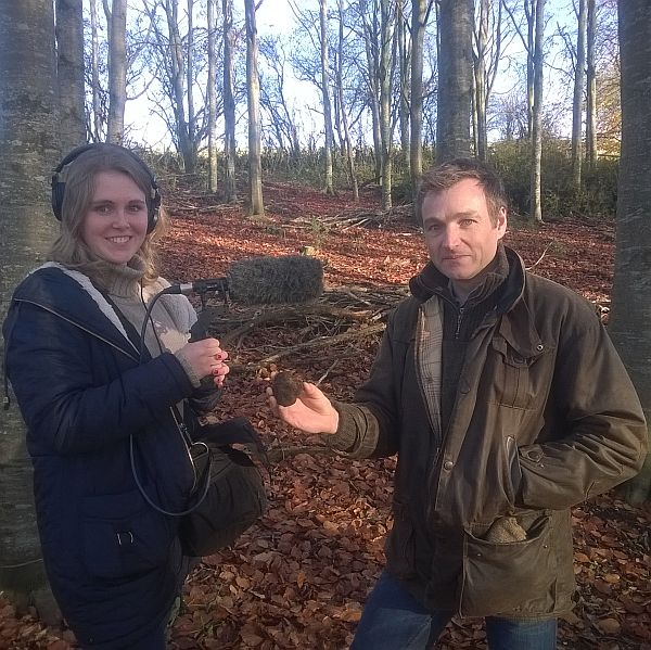 Chris Beardshaw joined us on a truffle hunt for broadcast in Gardener's Question Time on Radio 4.