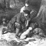 Truffle hunting drawing